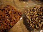 healthy nuts, walnuts and almonds